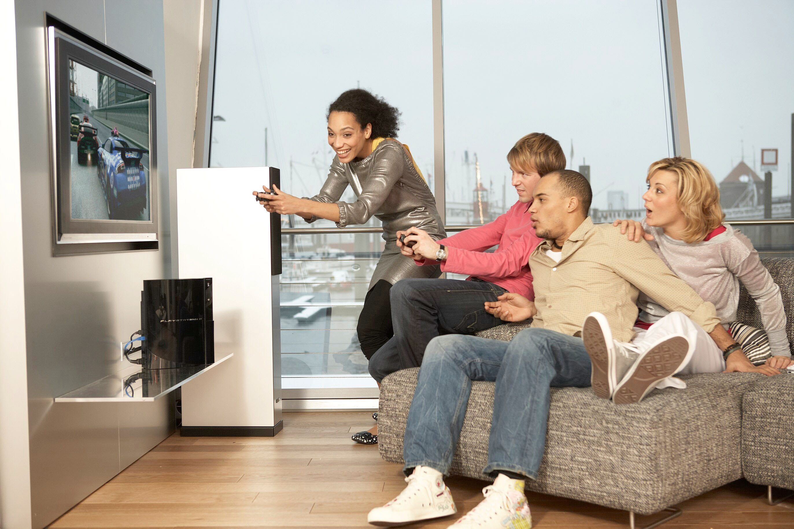 PlayStation with family and Friends