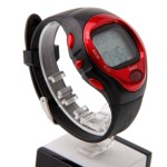 Roll over image to zoom in Pulse Heart Rate Counter Calories Monitor Watch Sport RE0622 Black + Red