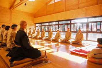 Buddhism group meditation