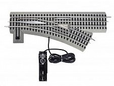 O Scale right switch train track
